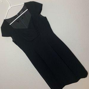 Tahari/Levine Sz 6 Black Classic Sheath Dress